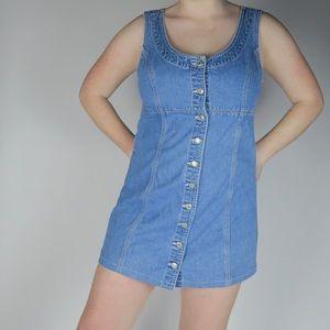 Gap Button Front Denim Dress